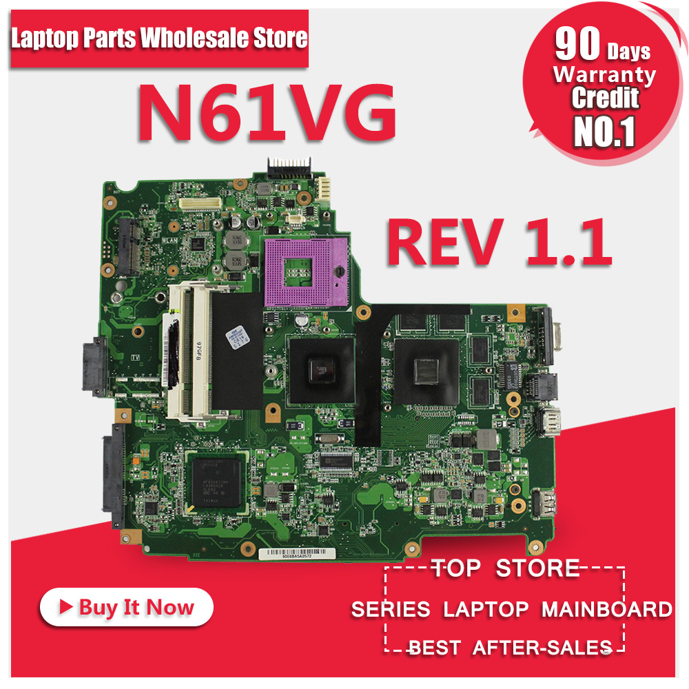 Hot selling 3.28 For Asus N61VG 1GB N10P-GV2-C1 Laptop System Motherboard Professional Wholesale 100% Tested working 100% working laptop motherboard for asus u50vg system board fully tested