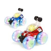 Electric Remote Control Car 360 Degree Rotate LED Luminous Music Rechargeable Climbing RC Cars Off Road