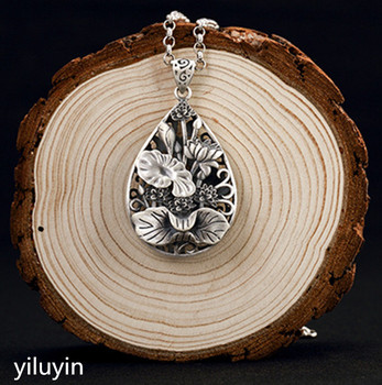 KJJEAXCMY S990 silver coin hollowed out, silk gourd, pure silver, folk style, antique style, lady pendant.