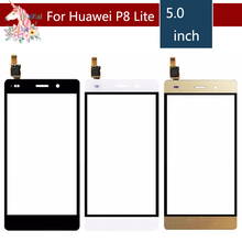 10pcs/lot 5.0 For Huawei P8 Lite 2015 LCD Touch Screen Digitizer Sensor Outer Glass Lens Panel Replacement