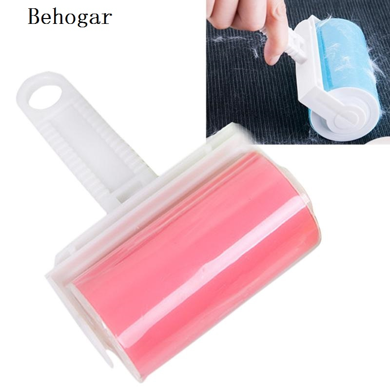 Behogar Reusable Washable Lint Roller Sticky Silicone Dust Pet Hair Remover Cleaning Brush for Pet Cloth Furniture Random Color