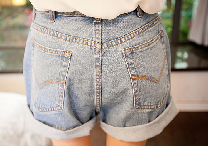 A54 Vintage Lady Denim Shorts Fashion Women