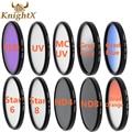 Knightx 49 52 55 58 62 67mm fld cpl mc uv nd estrela cruz linha de filtro de lente para canon eos 550d 650d 600d 1100d câmera d3200 d5300