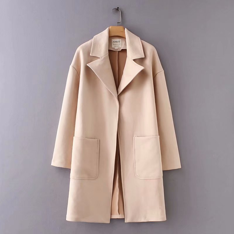 Basic Jackets Realistic New Arrival Women The European And American Fashion Twill Suede Coat Aazz95-9033 Regular Tea Drinking Improves Your Health Jackets & Coats