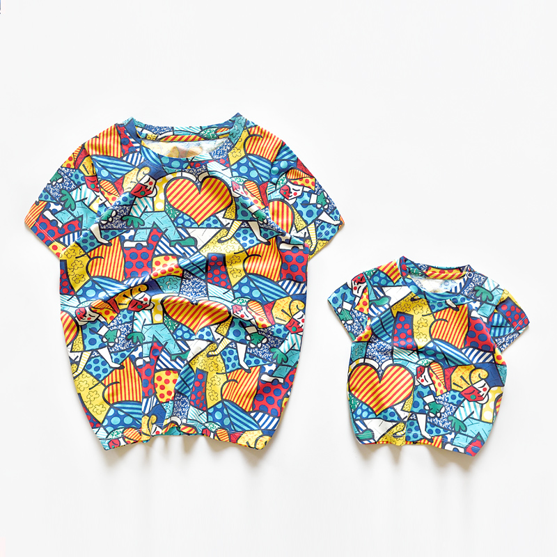 d9359bf7 Mae Mother Daughter Matching Outfits Your Mom and Baby Funny Love Pattern T  Shirt Father and