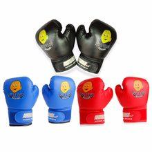 3b359f502 3-12 anos Luvas de Boxe para crianças Dos Desenhos Animados Sparring  Punching Bag Preto
