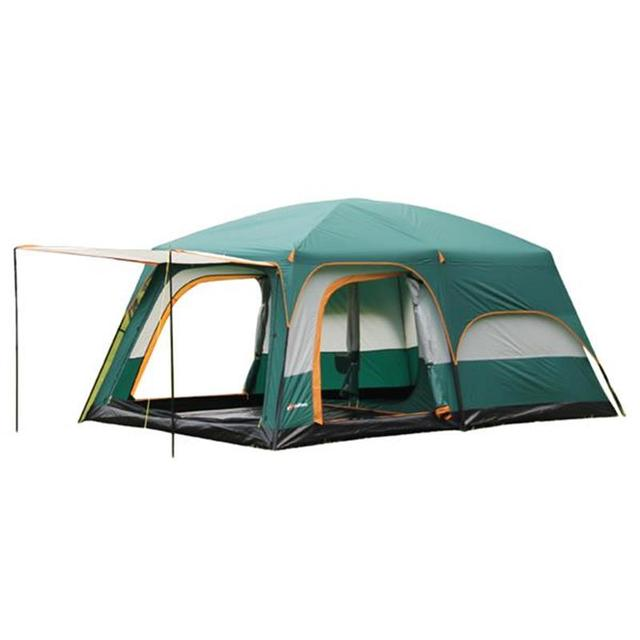 Alltel Ultralarge 6 10 12 double layer outdoor 2living rooms and 1hall family camping tent