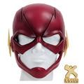 A Cabeça Cheia Máscara Capacete de Flash Adereços Cosplay Nova Versão Resina macia Vermelho Para Adulto Halloween Máscaras TV XCOSER Costume feito