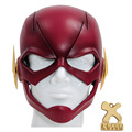 El Flash Máscara Completa Cabeza Casco Apoyos Cosplay Nueva Versión Resina suave Rojo Para Adultos Máscaras de Halloween TV XCOSER Personalizado hecho