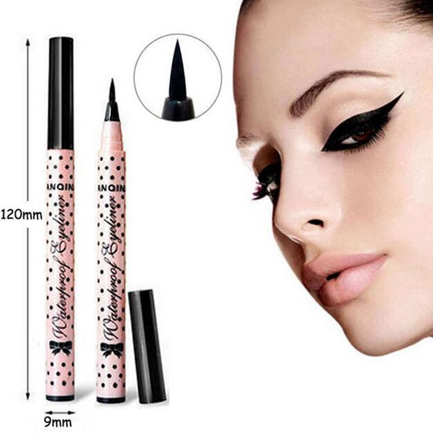 1 Pcs New Smooth Waterproof Liquid Eye Liner Eyeliner Pen Make up Cosmetic Black Magic Maquiagens Rimel Colossal Delineador BO