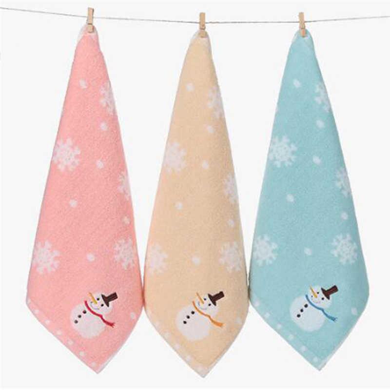ベビーバスタオルかわいい雪だるまスノーフレーク柄少年少女綿浴用新生児ものお風呂シャワーウォッシワイプ布