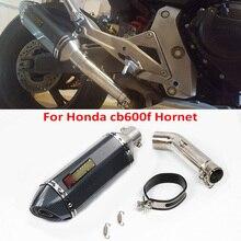 CB600F Hornet Slip on Exhaust Tip Muffler Silencer Mid Middle Link Pipe Connect Tube for Honda 600