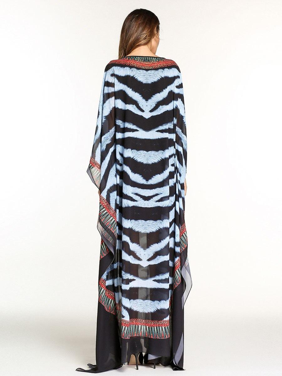 RICHE BAZIN Afrikanische kleider für frauen Mode Sexy Chiffon Print ...
