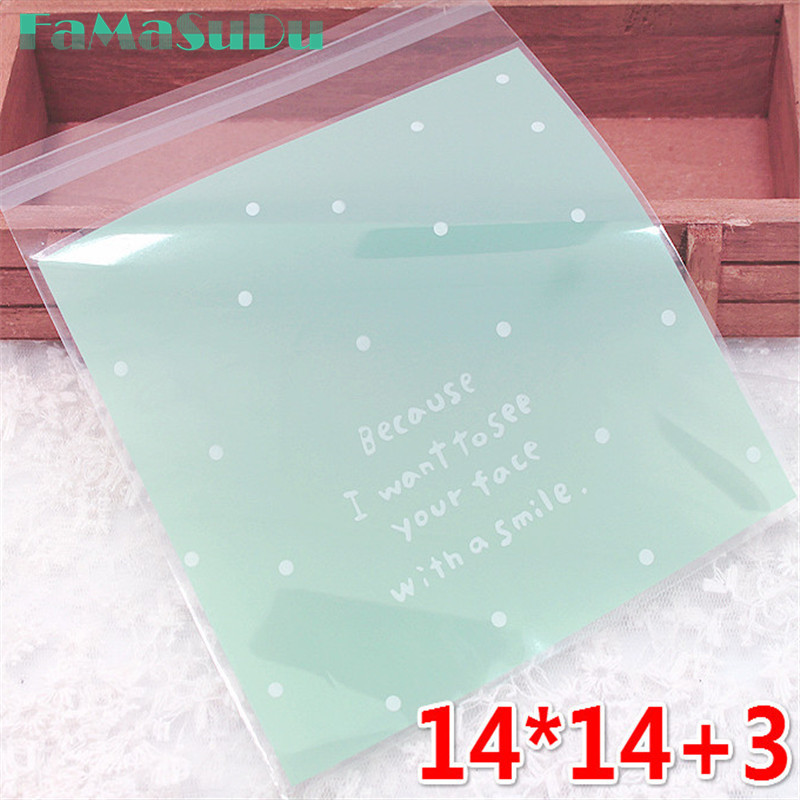 14*14cm 100pcs/lot candy bag cute candy color design candy Paper for chirdren party wedding handmade wrapping Shopping gift bag
