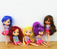 New Style STRAWBERRY SHORTCAKE Chilren Child Girl Toy Best Gift 15cm Doll 1pcs Cake Decorate Doll