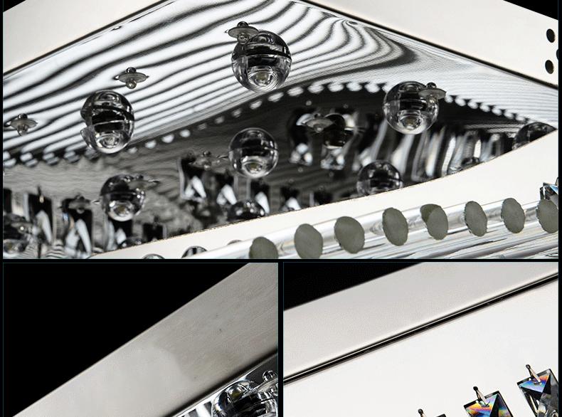 Luxury 4 Color Smooth Sailing Led Lamp K9 Crystal Modern Square Led Ceiling Lights (15)