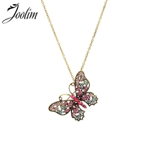 купить Joolim Vintage Cutout Butterfly Pendant Necklace Vintage Convertible Necklace Wholesale дешево