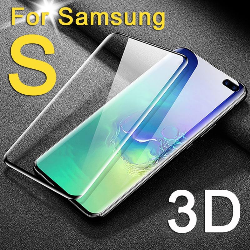 3d Schutz Glas Auf Für Samsung Galaxy S10 S9 Plus S10e Bildschirm Protector Glas Tremp S 9 10 E S10plus Samsun Galax Volle Abdeckung