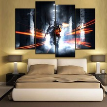 One Set 4 Pieces Top-Rated Canvas HD Printed Game Battlefield Painting Modern Wall Art Modular Picture Home Decoration Bedroom