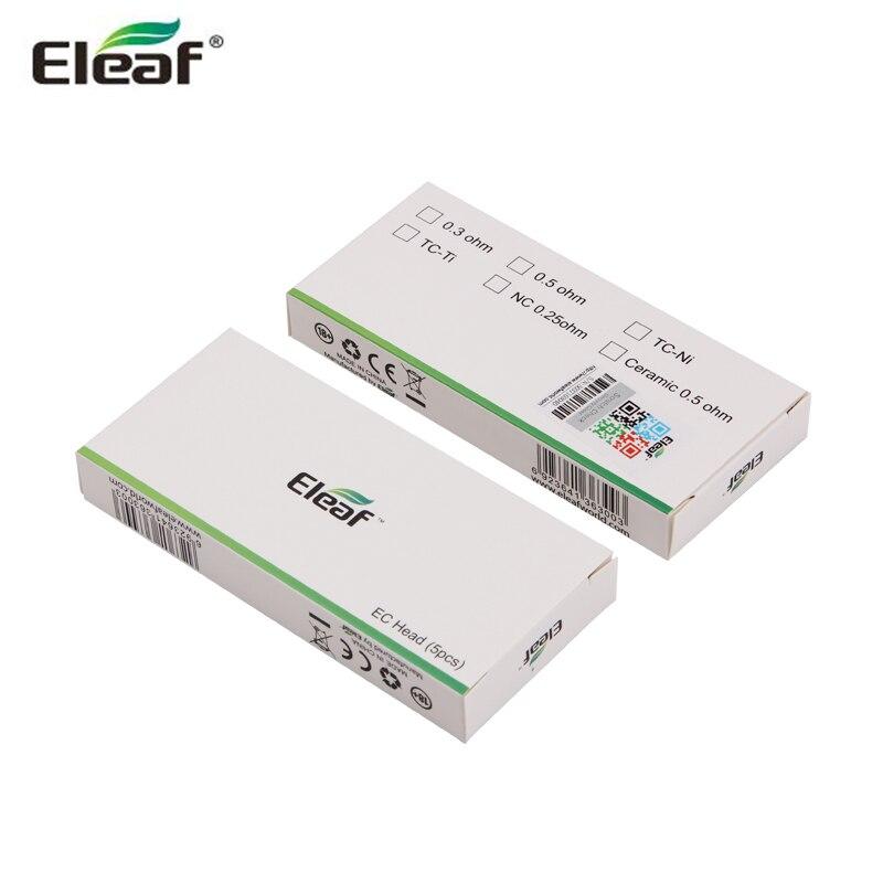Оригинальный Eleaf испаритель для электронной сигареты замена Головка Катушки 0.3ohm 0.5ohm для iJust 2 форсунки Melo распылитель ватный виток глава 5 шт...