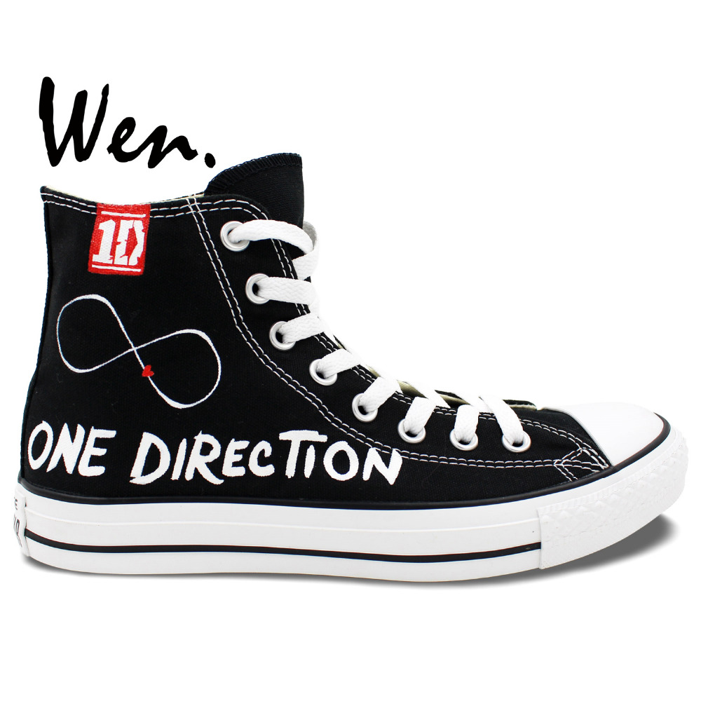 Wen Hand Painted Shoes Design Custom One Direction Man Woman\'s High ...