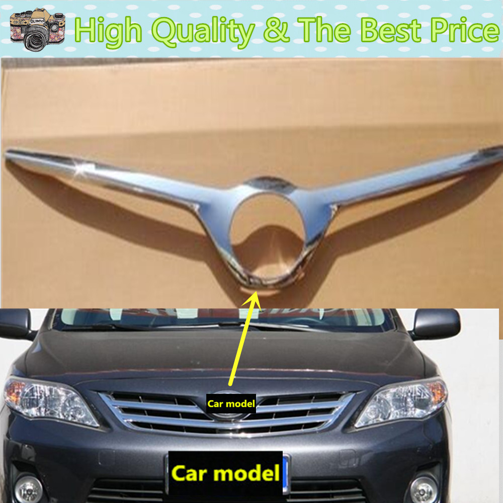 For toyota corolla 2011 2012 2013 car body abs chrome trim front bottom racing grid grill