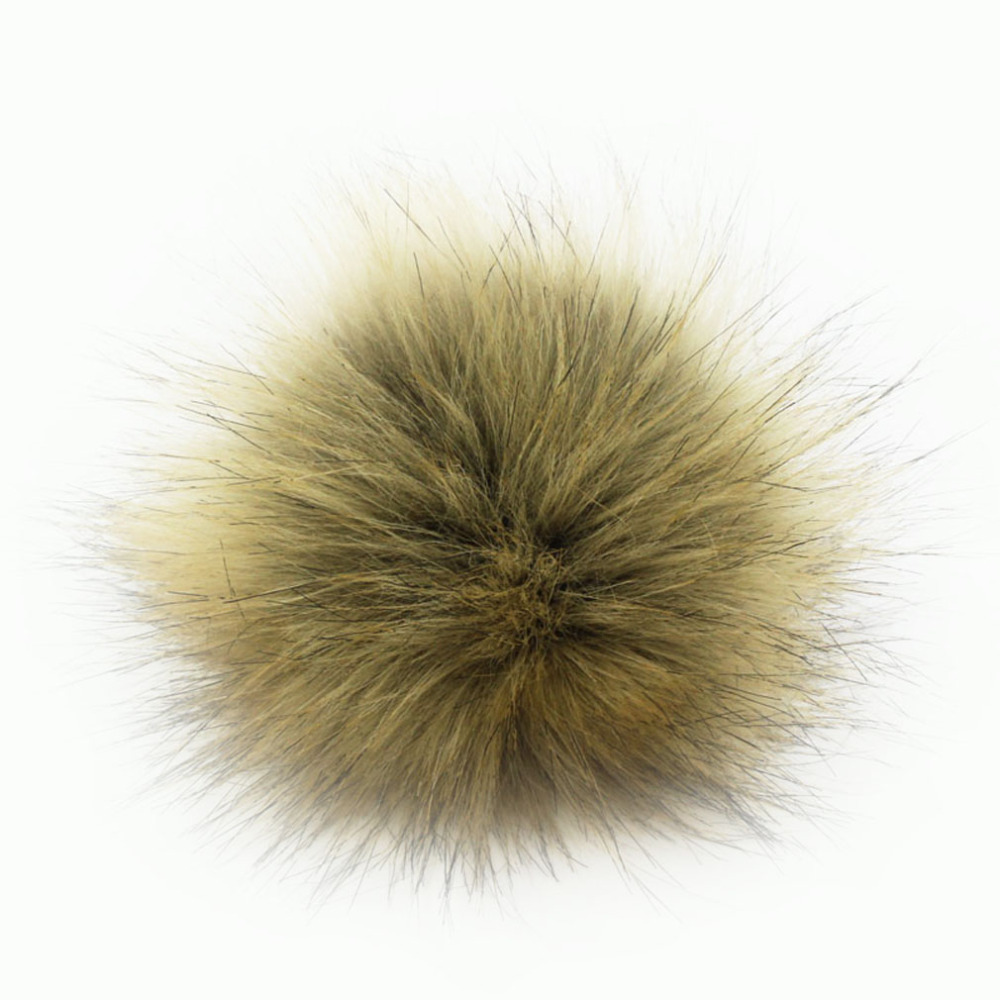 Furling 1pc DIY 8cm/3.1inch Natural Color Faux Fox Fur Pom Pom Ball for Knitting Hats Accessories KeyChain Accessories pom pom decorated glitter clip 1pc