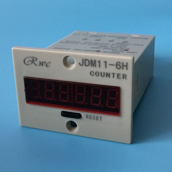 Free Shipping Electronic Counter JDM11-6H AC 220V Production Counting Electronic Digital Display Preset Type Accumulation Counter — stackexchange