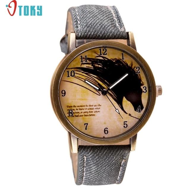 OTOKY Willby Vintage Brief Painting Horse Watch Quartz Wrist Watches 161213 Drop