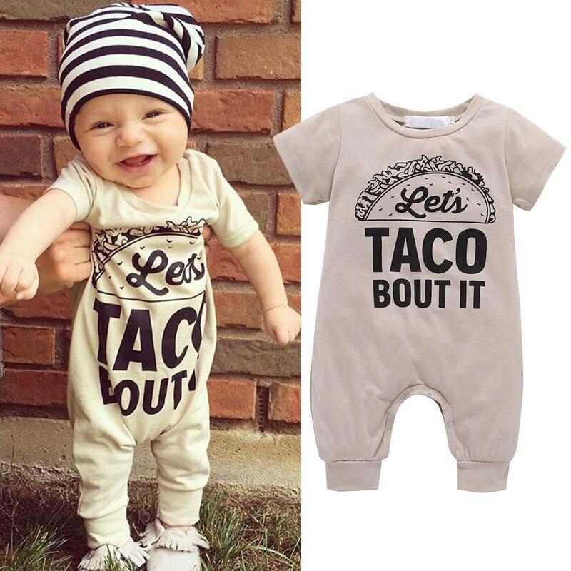 2018 Newborn baby jumpsuit summer cotton boy girl short sleeve long climb childrens clothing