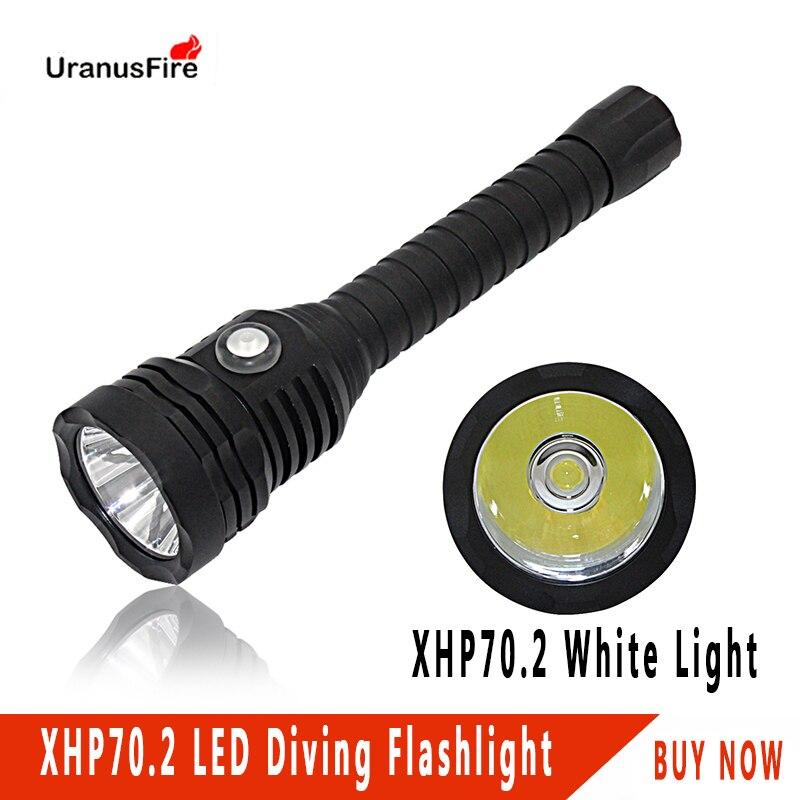 4000 lumens Diving Flashlight torch 18650 underwater 100m scuba dive light 4 mode Stepless dimming XHP70