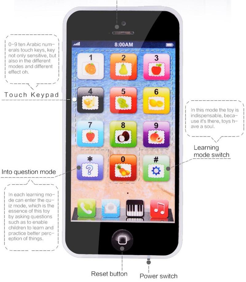 Джимми медведь 1 шт. Y-телефон английского языка ABC мобильного телефона игрушка-головоломка мини-игрушка поверхности узор случайно