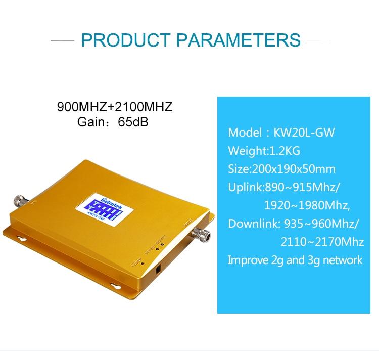 Lintratek gsm900 répéteur gsm 2100 (bande 1) amplificateur de signal de téléphone portable booster 2g 3g amplificateur cellulaire et internet 2100 S51 - 5