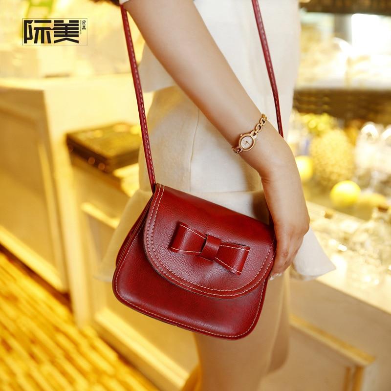 Großhandel Mini Schulter Tasche Für Mädchen Bogen Nette Damen Koreanische Stil Kleine Strap Weiblich Kreuz körper Messenger Taschen Für Frauen 2018