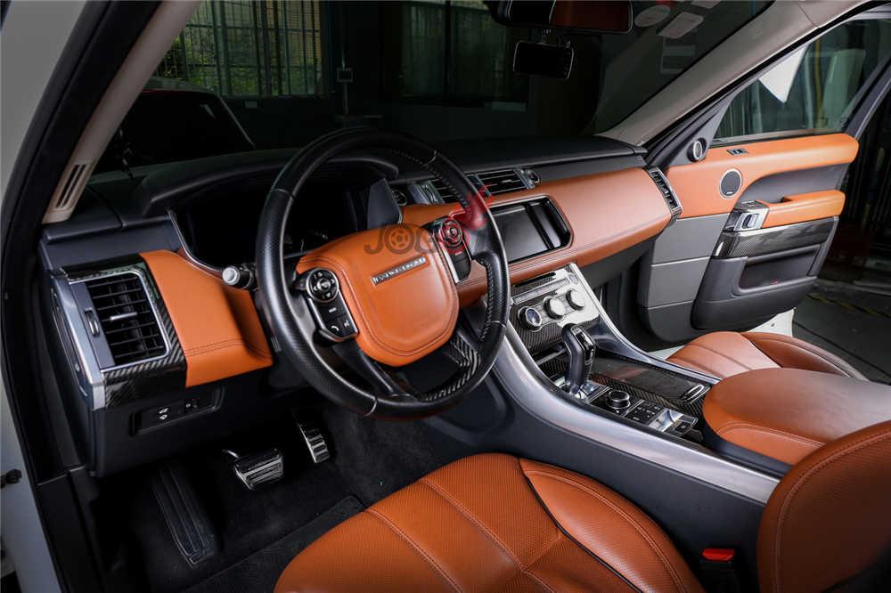 For Land Rover LR Range Rover Sport L494 2014-2017 Car Central Console Gear  Shift Interior Door Panel Air Vent Trim 15pcs LHD