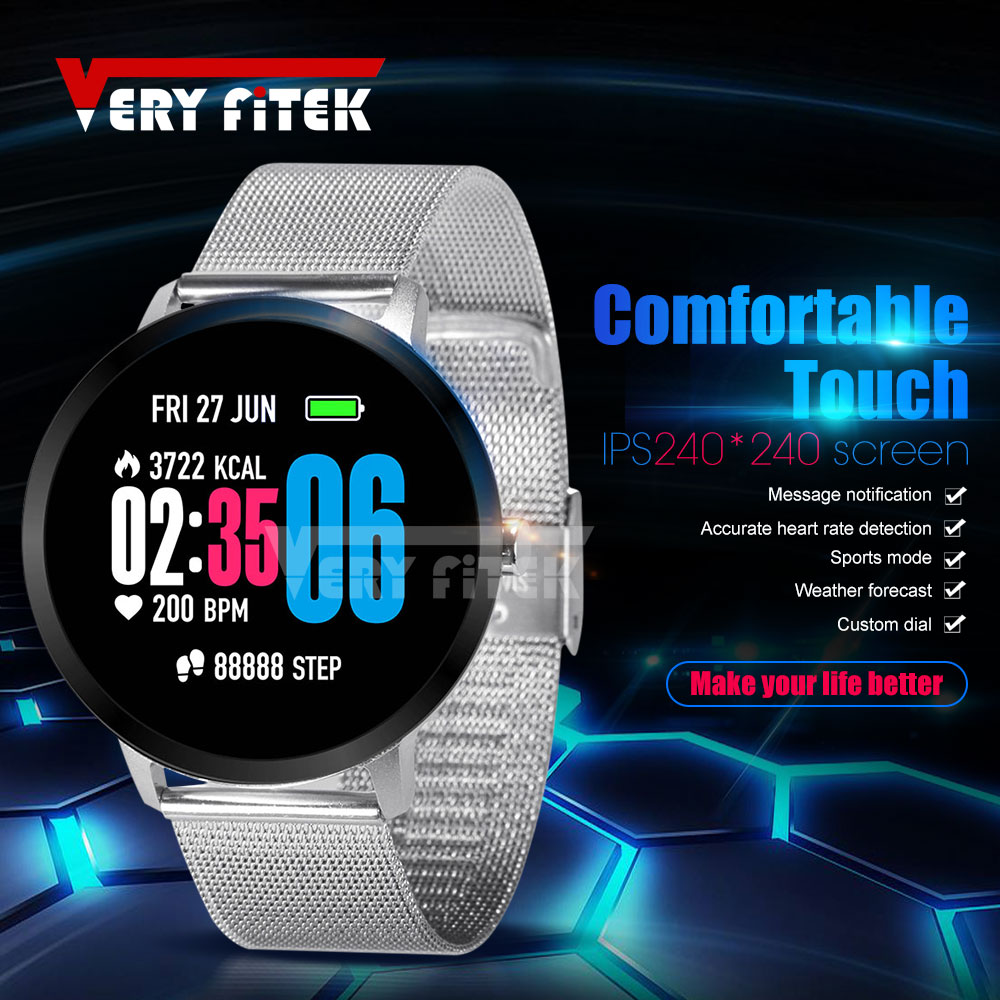 VERYFiTEK V11 SmartWatch Blood Pressure Oxygen Heart Rate Monitor Smart Watch IP67 Pedometer Men Women Sport Fitness Watches colmi v11 smart watch ip67 waterproof tempered glass activity fitness tracker heart rate monitor brim men women smartwatch