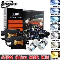 55W Bi Xenon Light H1 H7 H4 9003 XENON HID KIT Bulbs SLIM BALLAST 6000K 12V