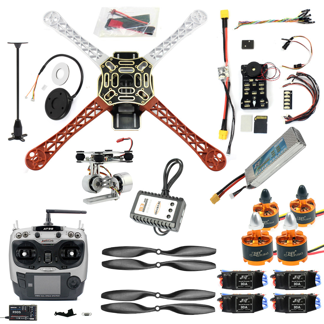 DIY FPV Drone Quadcopter 4 axle Aircraft Kit F450 450 Frame PXI PX4 Flight Control 920KV