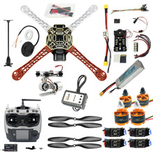 DIY FPV Zangão Quadcopter 4-eixo Aeronaves Kit F450 450 Quadro PXI PX4 AT9S 920KV Motor GPS de Controle de Vôo transmissor