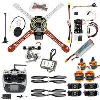 Precio DIY FPV Drone Quadcopter 4-eje aviones Kit de F450 450 marco PXI PX4 de Control de vuelo 920KV Motor GPS AT9S transmisor