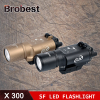 Tactical Weapon Light SF X300 Hunting Flashlight Airsoft Pistol Scout Light Constant / Momentary Output Picatinny Rail