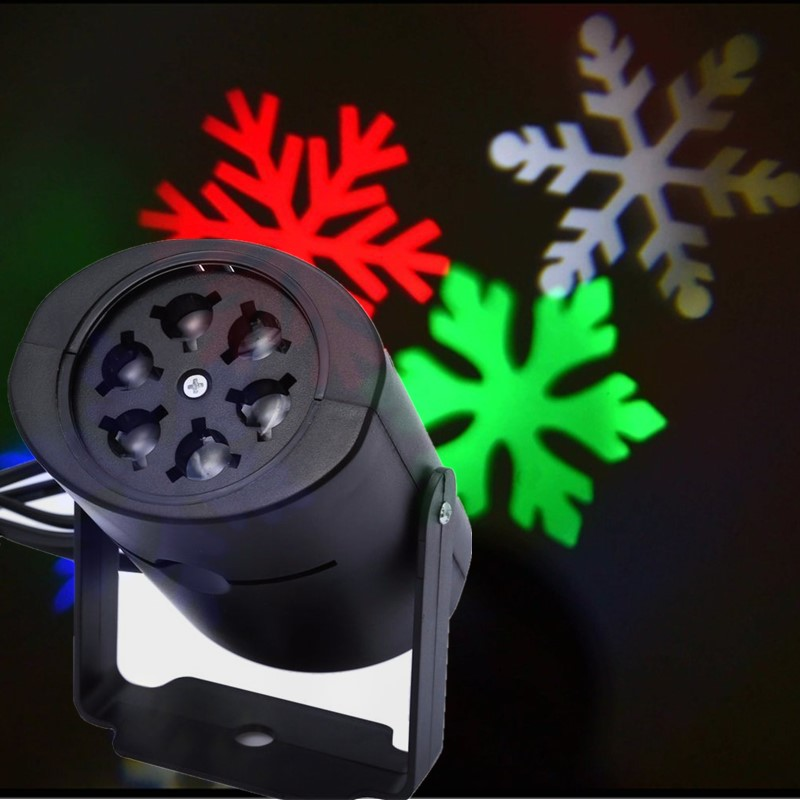 Mini Outdoor LED Laser Projector Stage Light Rotating Snow Lamp Garden Holiday moving pattern Spider Christmas