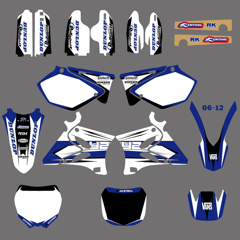 NICECNC 3M Background Graphic Decals Kit For Yamaha YZ 125 250 YZ125 YZ250 2002-2014 New Matching Front Rear Fender Tank Sticker front rear brake pads for yamaha yz 125 250 1998 2002 wr 250 426f 01 02 yz 426 2000 2002