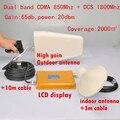 Lintratek! nuevo CDMA 850 MHz + DCS 1800 MHz dual band booster de señal del repetidor gsm 850 1800 completo conjuntos