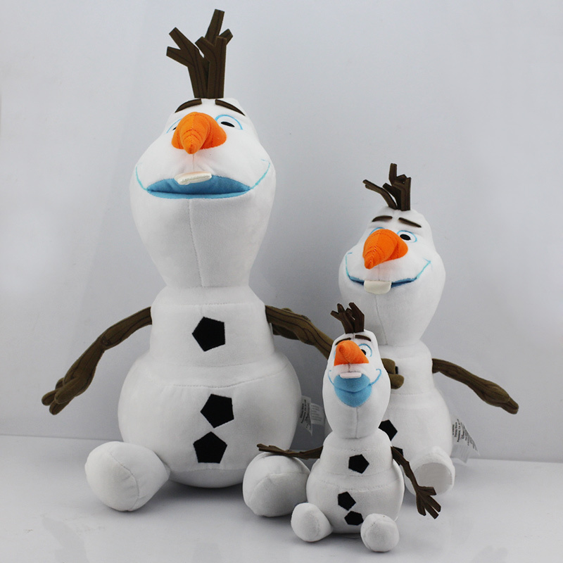 Retail 1Pcs Free Shipping Bigest 50CM 19 7inch Cartoon Olaf Plush Olaf plush Toys Snowman Toy