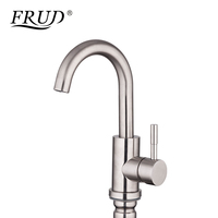 Frud New Basin Faucet Hot And Cold Water Faucet Single Handle Brushed Bathroom Faucet Torneira Do Banheiro Torneira Bacia Y10026