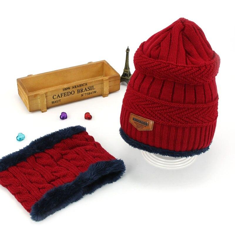 Комплект шапочки унисекс для детей и взрослых, детский толстый вязаный вельветовый головной убор и шарф, зимний теплый костюм, шапка и шарф, MZ5356