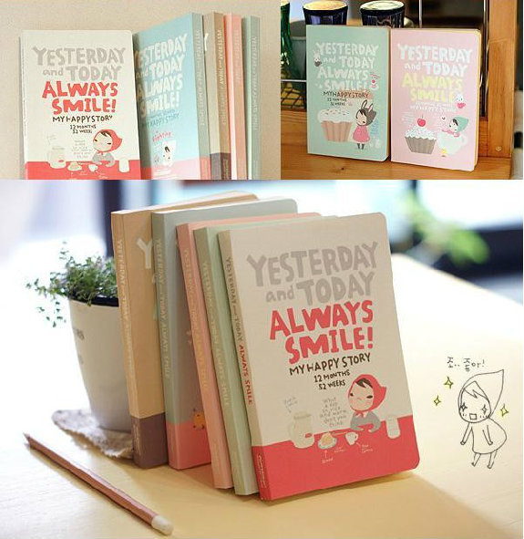 Always Smile Planner Agenda Any Year Scheduler Cute Journal School Study Notebook