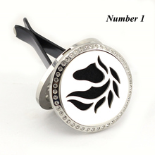 Wholesale Silver Horse (35mm) Magnetics Diffuser 316 Stainless Steel Car Aromatherapy Locket Essential Oil Car Diffuser Lockets