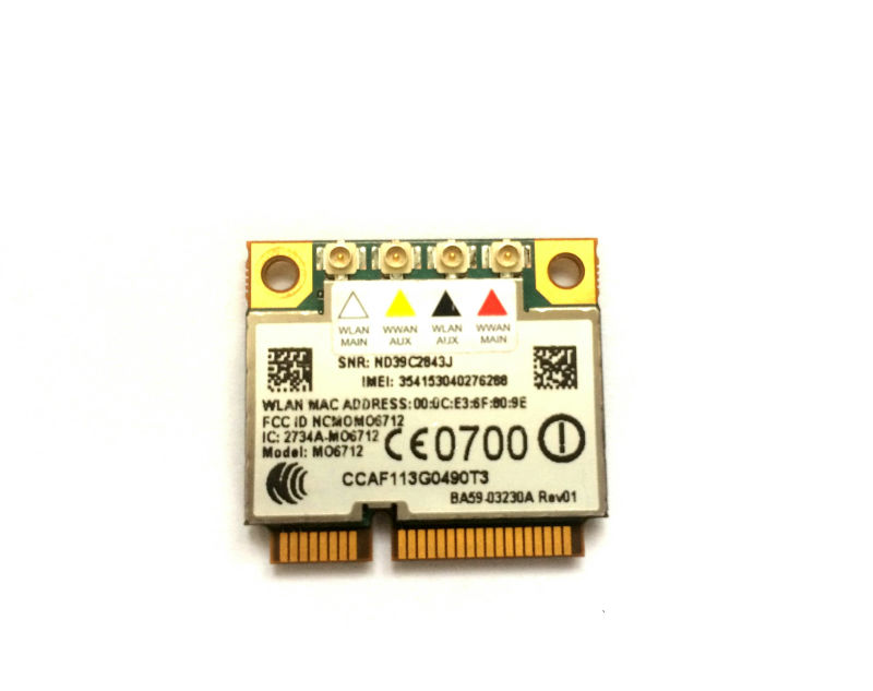 Option GTM671W MO6712 Mini PCI E 3G wifi WWAN Wireless Card HSDPA GPS 2 in  1 Modems-in Industrial Computer & Accessories from Computer & Office